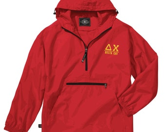 Delta Chi Pack-N-Go Pullover (light gold embroidery)