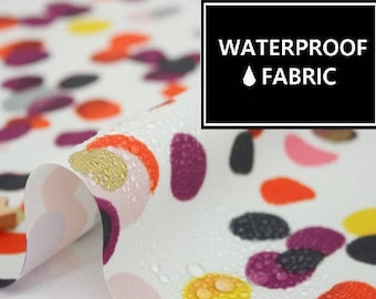 "Waterproof Fabric - by Yard, 150cm(59"") Width, Fallen Petal Pattern,"