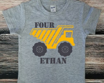 Construction Birthday Shirt, Dump Truck Birthday Party, Truck Birthday Shirt