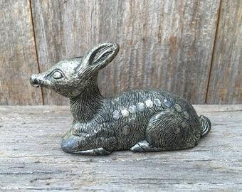 Metal Fawn figurine