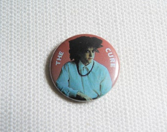 Vintage 80s Sassy Robert Smith - The Cure - Pin / Button / Badge