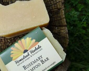 Rosemary Shampoo Soap Bar / Eco Shampoo Bar / Natural Shampoo / / best for darker hair