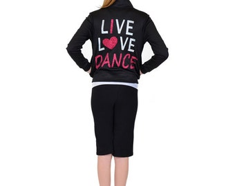 Girl's Live Love Dance Warmup Jacket