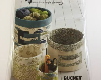 Bucket Brigade Pattern - Atkinson Designs - ATK-170 - Sturdy Buckets For Organizing - Make Your Own Buckets - Make Four Different Sizes
