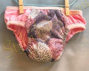 Girls size MEDIUM training underwear - cloth pull ups - cloth training pants - special needs underwear - FREE SHIPPING