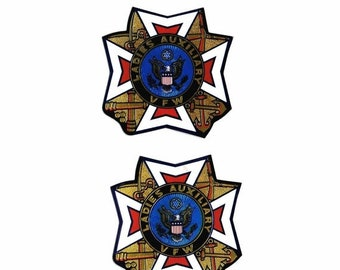 SALE Two Vintage VFW Ladies Auxiliary Stickers ORIGINAL
