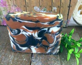 Cedar and Saffron Handmade Soap