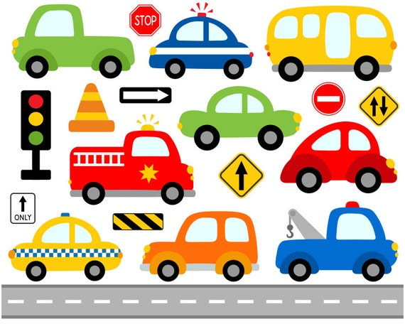 Well known Cute Cars Digital Clip Art Transportation Road Signs HN05
