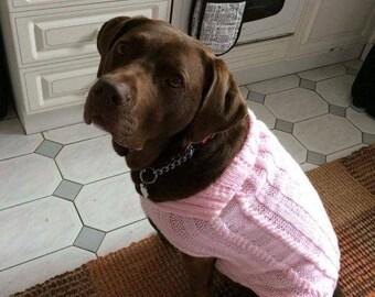 Hand knitted dog jacket