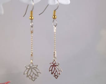 Pendants earrings 925 sterling silver lotus flower charm
