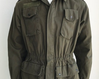 Vintage Italian Military Utility Field Jacket size Small/Medium