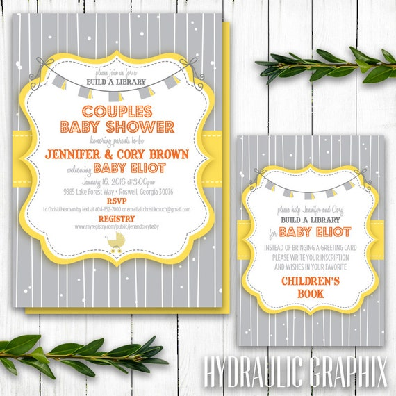 Build A Library Shower Story Book Baby Shower Theme