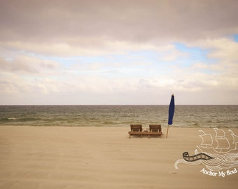 Ocean Serenity Always Photograph - Beach Chair - Nautical - Waves - Print - Wall Art