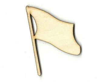 Flag - Laser Cut Out Unfinished Wood Shape Craft Supply 4TH15