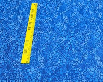 Bluebird Blue Dots Cotton Fabric from Hoffman Fabrics