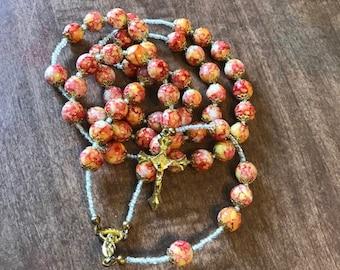 Orange red Rosary