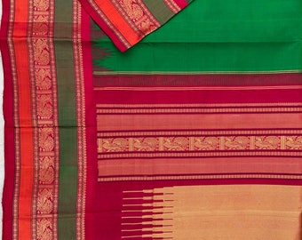 Threadwork Kanjeevaram Silk Saree
