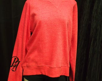 L, XL - Bright Pink Off-Shoulder Sweater - 2 Prints Available (Great for pole/yoga/fitness/workout/dance/casual/aerial arts)
