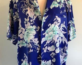 Blue and White Malihini Men's Hawaiian Hawaii Aloha Shirt