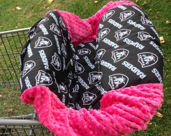 Shopping Cart Cover- Raiders/ Hot Pink