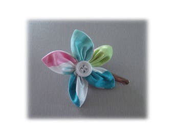 WATER BUBBLE FLOWER ALLIGATOR HAIR CLIP