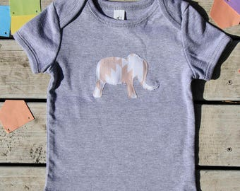 Elephant Baby Onesie®, Animal Baby Bodysuit - Zoo Baby Gift- More Fabric Available