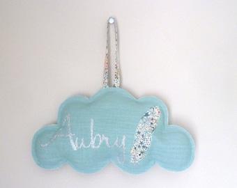 Cloud linen Liberty feather customizable celadon Liberty Adelajda name
