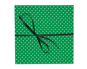 leporello photo album with fabric green