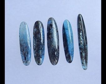 Sell 5 PCS Blue Kyanite Gemstone Cabochon Set,43x7x5mm,33x8x5mm,16.6g(v0618)
