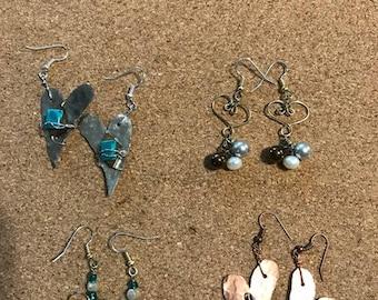 heart earrings choose any style