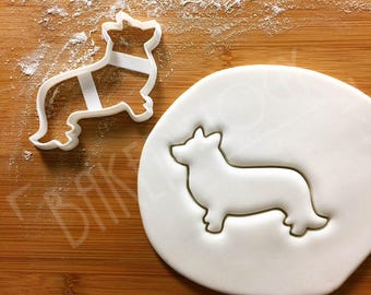Corgi Dog cookie cutter   Cardigan Welsh biscuit cutter   fondant cutter   clay cheese cutter   コーギー 코기 one of a kind ooak   Bakerlogy