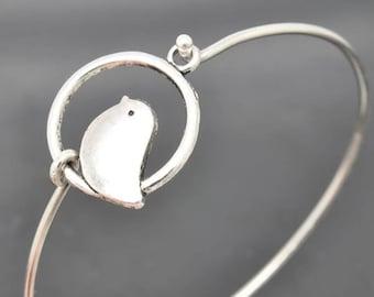 Oiseaux, bracelet, bracelet en argent Sterling, Bracelet oiseau, empilable bracelet, bracelet breloque, bracelet demoiselle d'honneur, bijoux de demoiselle d'honneur, Bracelet de mariée