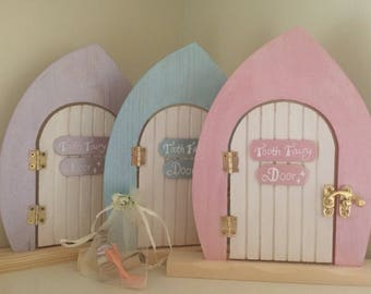 Tooth Fairy Set ~ Tooth Fairy Door & Tooth Fairy Dust Gift with Scroll