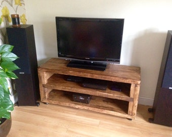 Rennes wooden tv and display stand