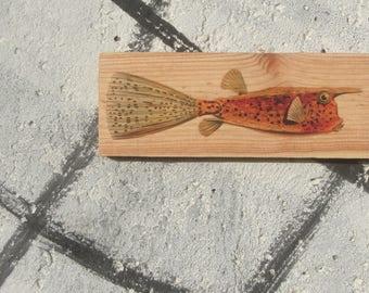Wooden Print - Long Boxfish | Wood | Print | Wall Art | Decor | Natural Prints | Surf Art