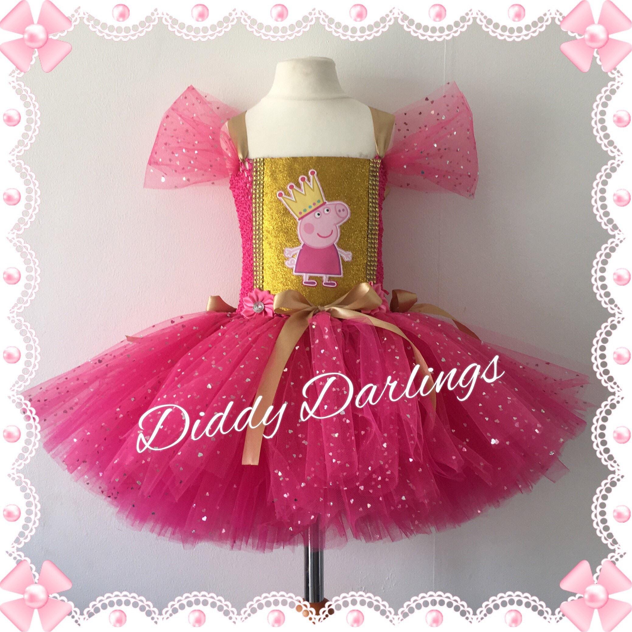 Sparkly Peppa Pig Tutu Dress Pink And Gold Tutu Dress Peppa