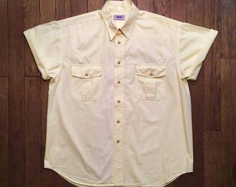 Pale yellow shirt vintage