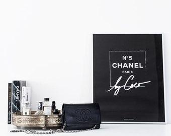 CHANEL Print | Chanel Decor Print | COCO CHANEL Print | Chanel Art Print | Chanel Monochrome Print | Chanel Poster | Chanel Wall Art Print