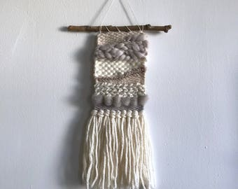 Shades of White Woven Wall Hanging