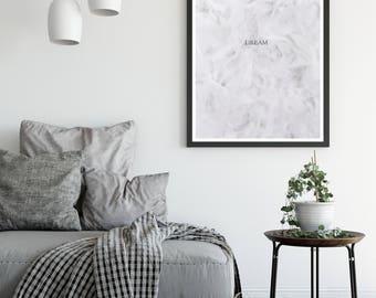 Prints | Wall Art | Home Decor | Wall Decor | Dream | Art Print | Hallway Decor