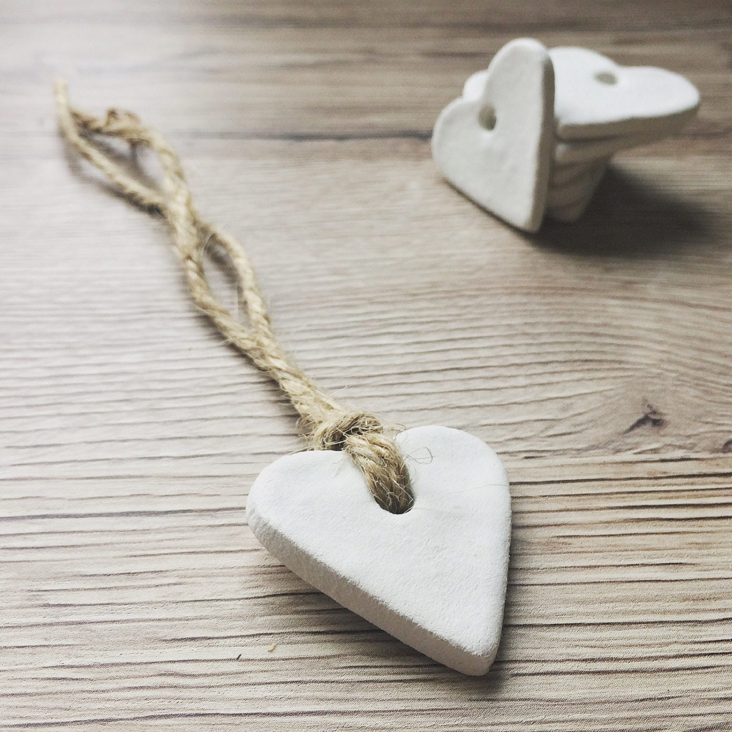 Vintage Wedding Favours. Plain Clay Heart Favour Tags Gift Tags ...