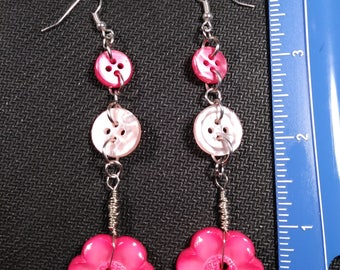 Vintage Buttons in Pink