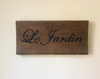 French Barnwood Sign, Barnwood Wall Decor, French Country Decor, French Sign, Rustic Garden Sign, French Wall Decor, Country Garden Decor