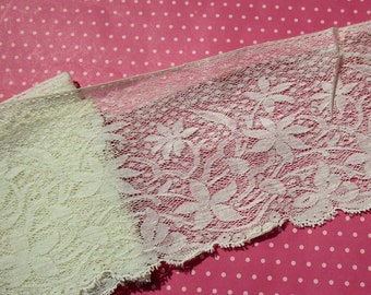 Antique Lace Vintage Lace Valenciennes Cotton Net Lace Yardage
