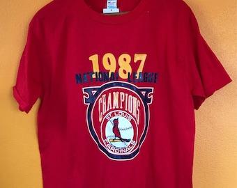 Cardinals St. Louis vintage 1987 baseball deadstock t-shirt Large