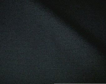 Fabric cotton linen canvas black half linen fine