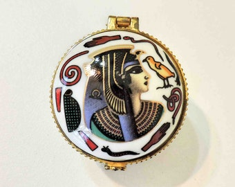 Vintage Egyptian Trinket Container