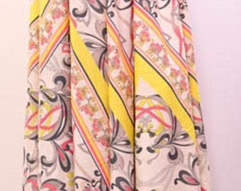 Plus Size Funky Boho Hippie Abstract High Waist Maxi Skirt Multi 18 20 22