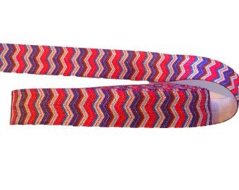"5/8"" Purple & Pink Chevron Stripe ~ FOE ~ Fold Over Elastic ~ Headbands ~ FOE ~ Trim ~"