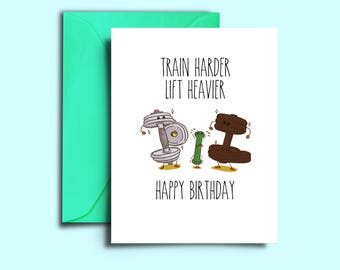 Gym rat card etsy printable crossfit birthday card for workout fitness girlfriend weight lifter personal trainer instructor personalized greeting boyfriend m4hsunfo